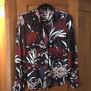 Anne Taylor floral blouse